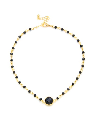 Contrast Crystal Choker Necklace