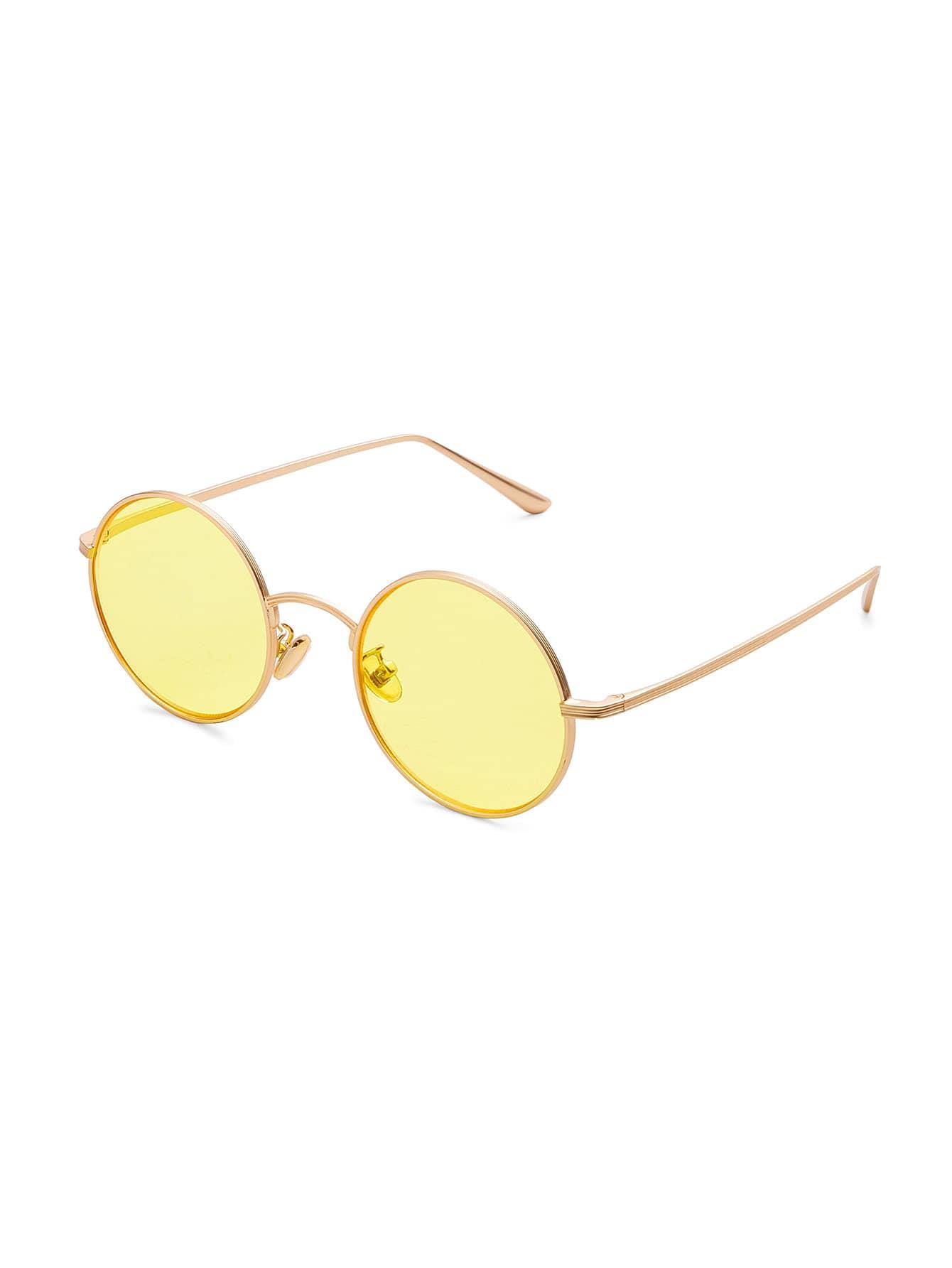 Tinted Lens Round Sunglasses