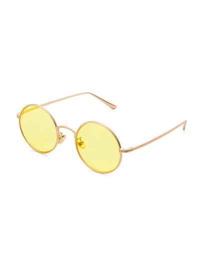 Tinted Lens Round Sunglasses