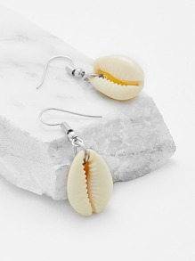 Shell Design Drop Earrings