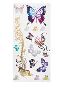 Delicate Butterfly Tattoo Sticker