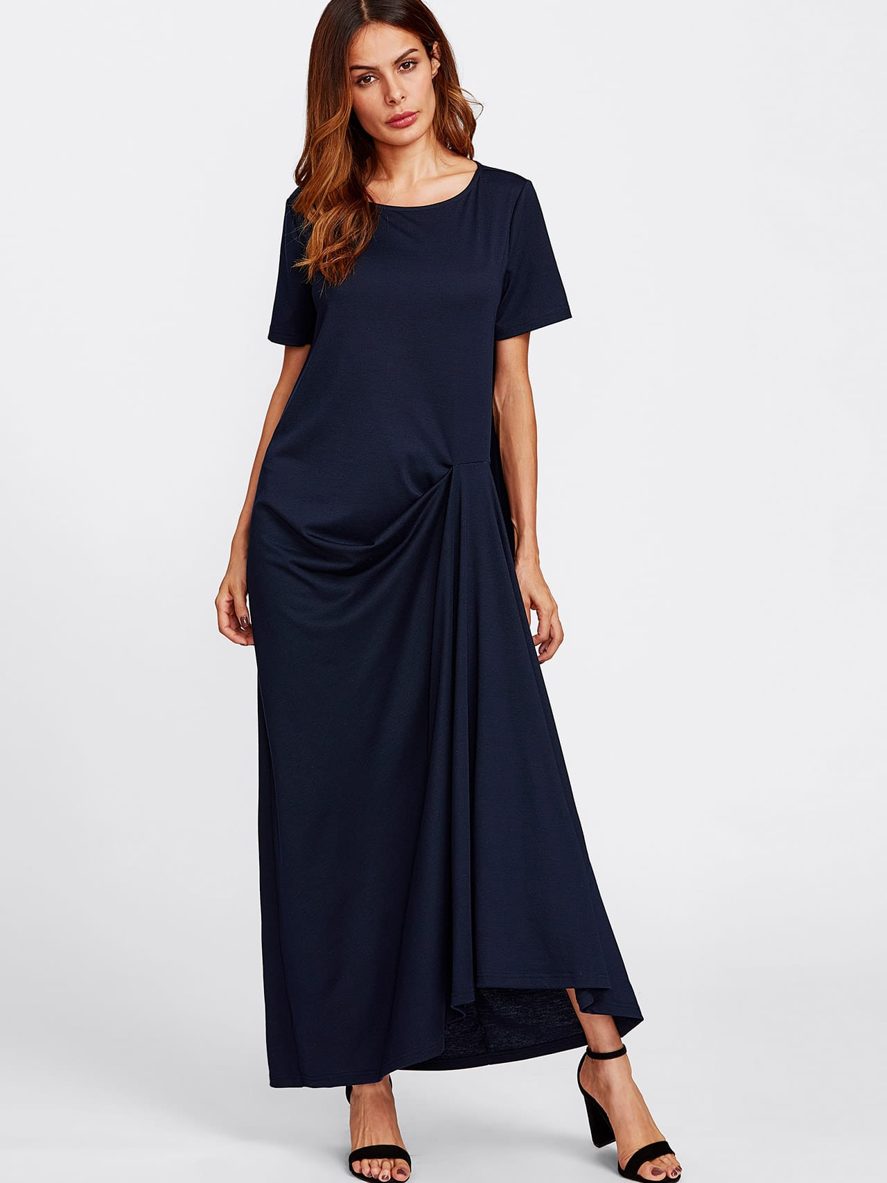 Gathered Draped Tee Dress appaman gathered tee