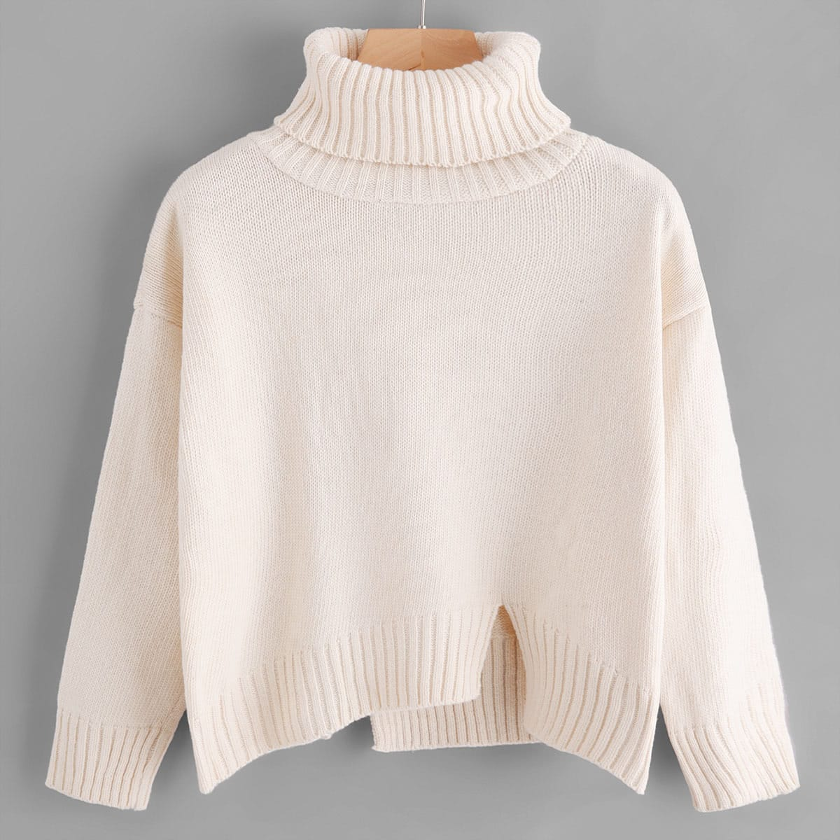 Sweater met kleine cutout en col