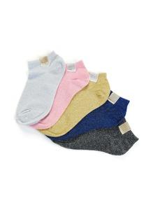 Glitter Ankle Socks 5pairs