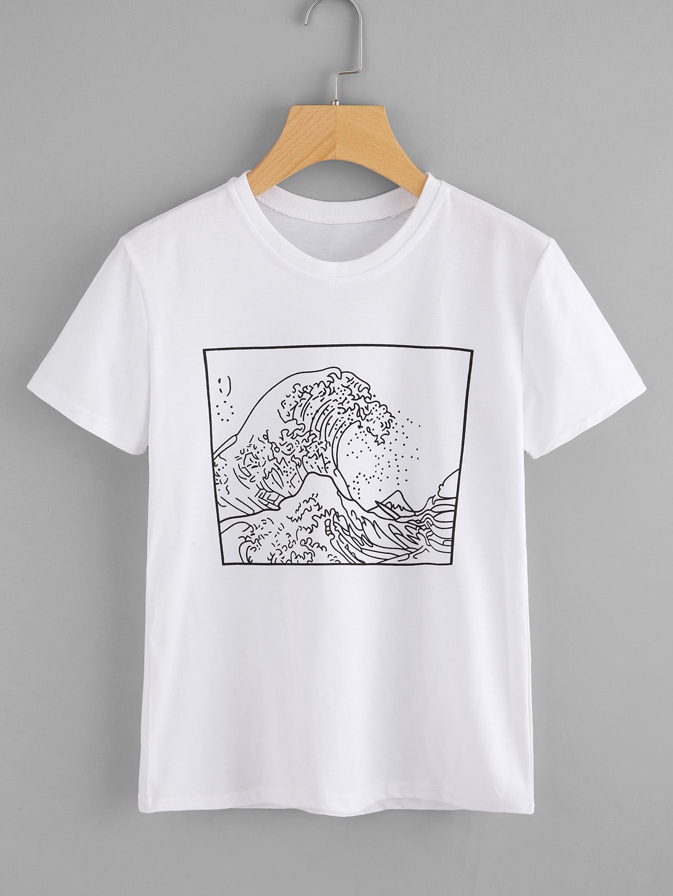 Graphic print tee shein sheinside for Graphic design t shirts uk