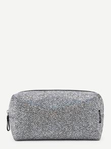 Zipper Detail Cube Accessory Pouch