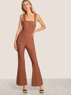 Back Tie Sleeveless Jumpsuit COCOA