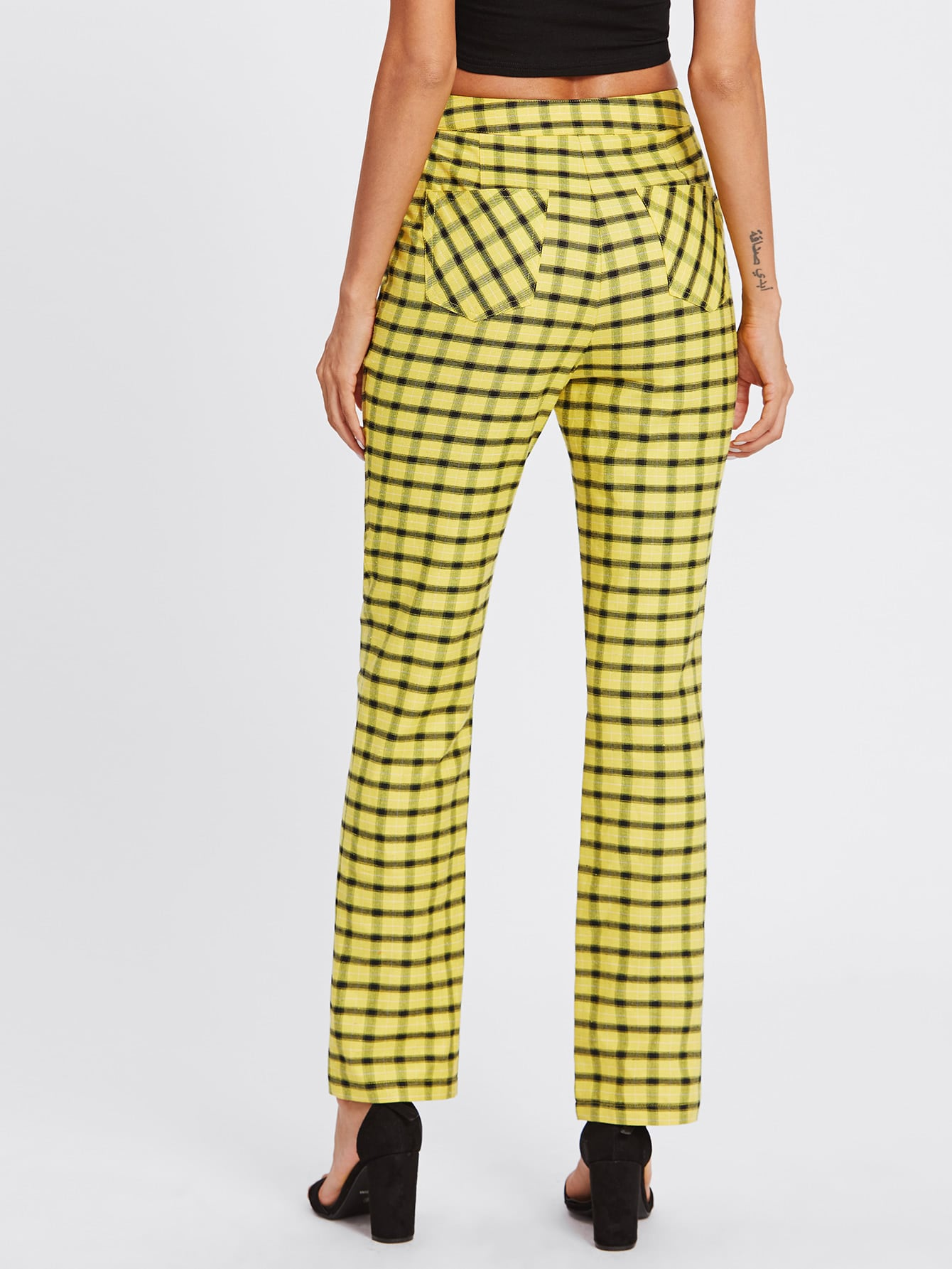Tartan Boot Cut Pants