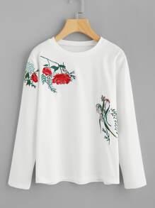 Botanical Embroidered Tee