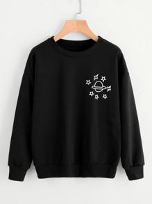 Planet Print T-shirt