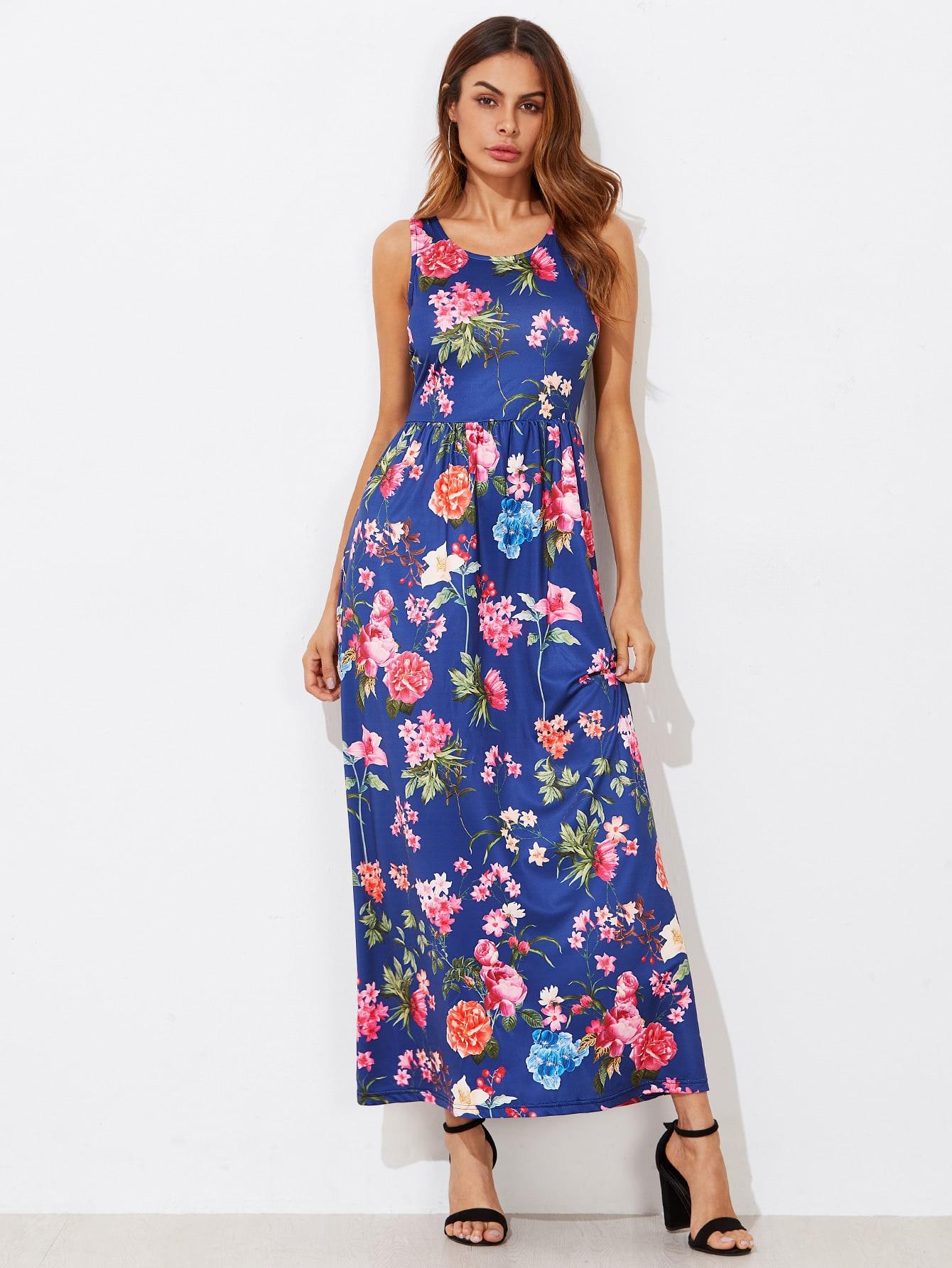 Купить Модное платье с карманом и цветочным принтом, Andy, SheIn