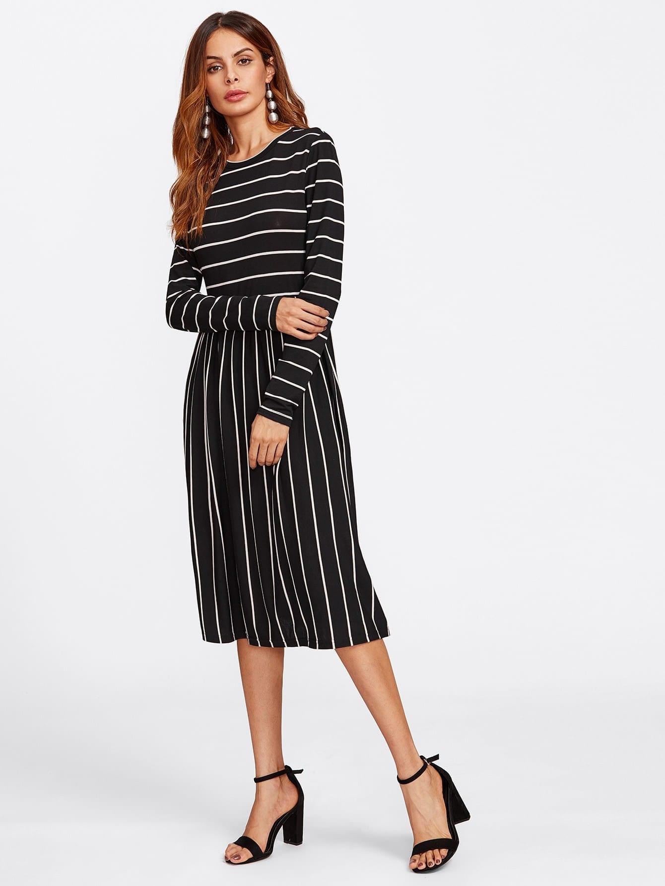 Mixed Striped Tee Dress все цены