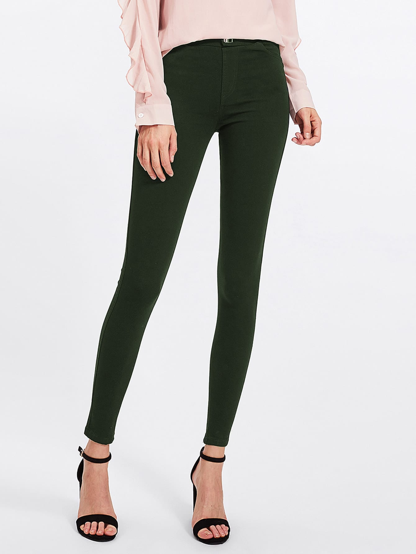 Army Green Skinny Jeans army green rivet