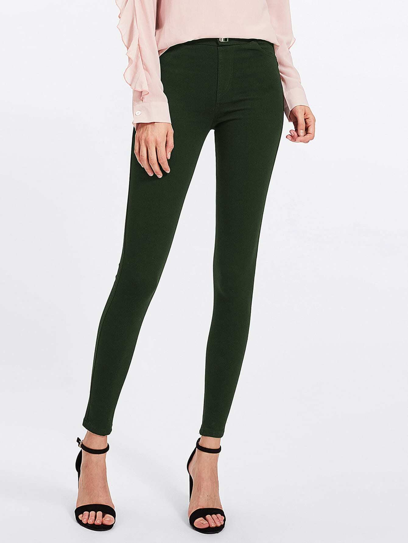 Image of Army Green Skinny Jeans