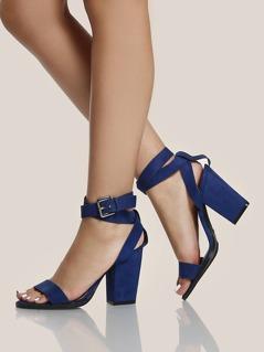 Wrap Up Single Band Heels INDIGO BLUE