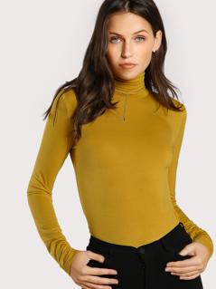 Turtleneck Slim Fit T-shirt