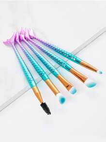 Ombre Mermaid Shaped Eye Brush 5pcs