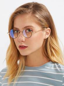 Metal Polygon Glasses