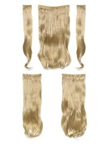 Golden Blonde Clip In Soft Wave Hair Extension 5pcs