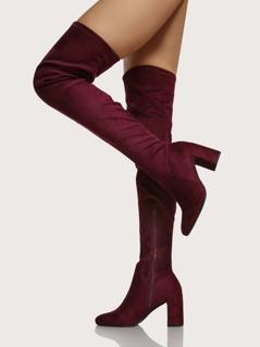 Square Toe Chunky Heel Boots VINO