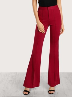 Piped Flare Leg Pants BERRY