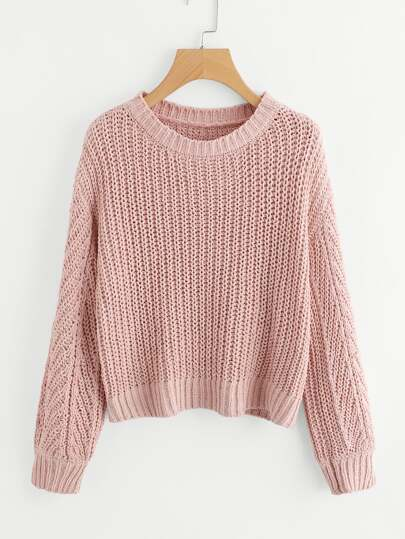 Texture Knit Pullover Sweater