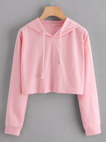 Crop Hooded Sweatshirt