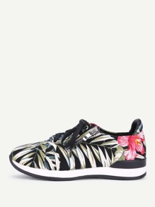 Jungle Print Lace Up Trainers