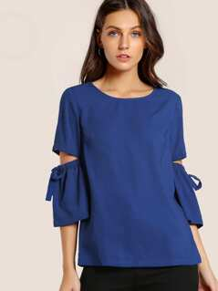 Drawstring Open Elbow Top