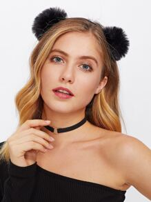Double Pom Pom Design Headband