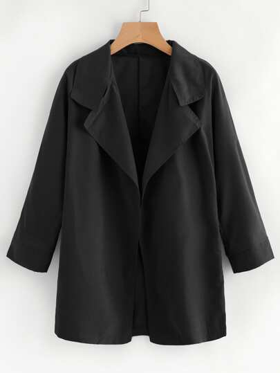 Open Front Lapel Coat