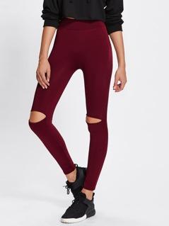 Knee Cutout Leggings