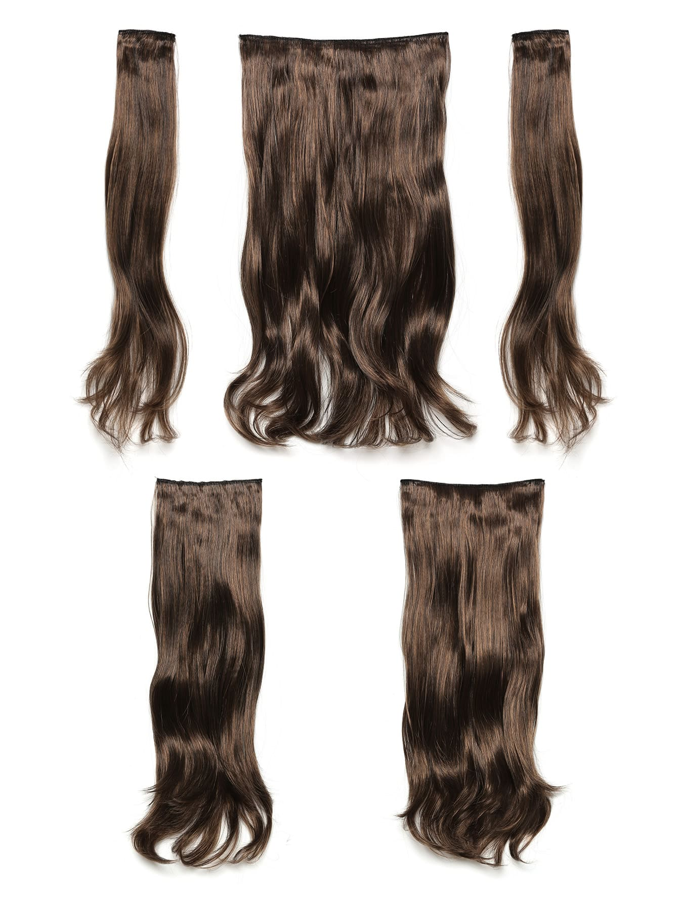Warm Brunette Clip In Soft Wave Hair Extension 5pcs jet black clip in soft wave hair extension 5pcs