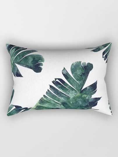 Leaf Print Pillow Case Cover