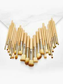 Wood Handle Brush Set 25pcs