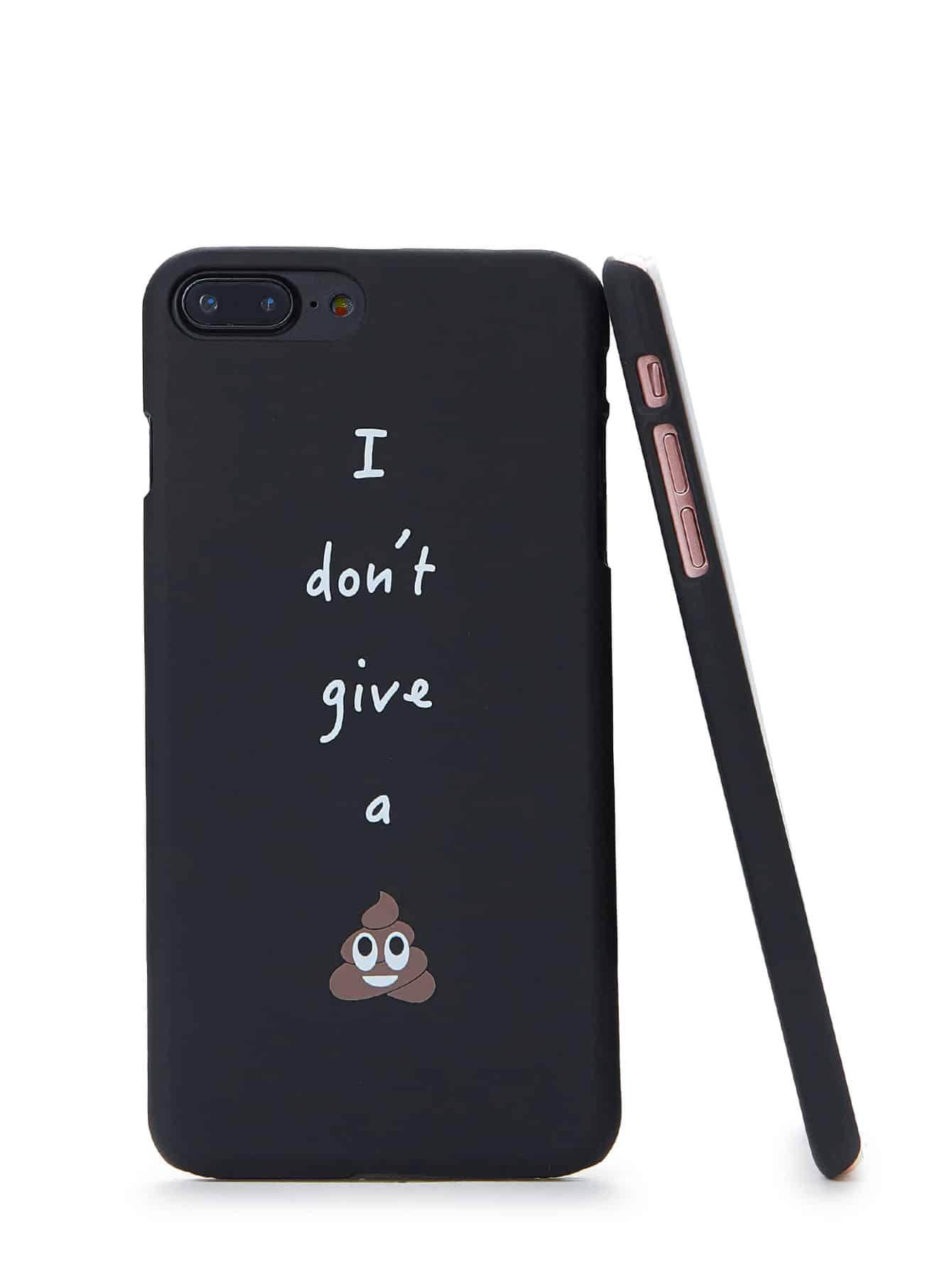 Купить Модный чехол для iPhone с текстовым принтом, null, SheIn