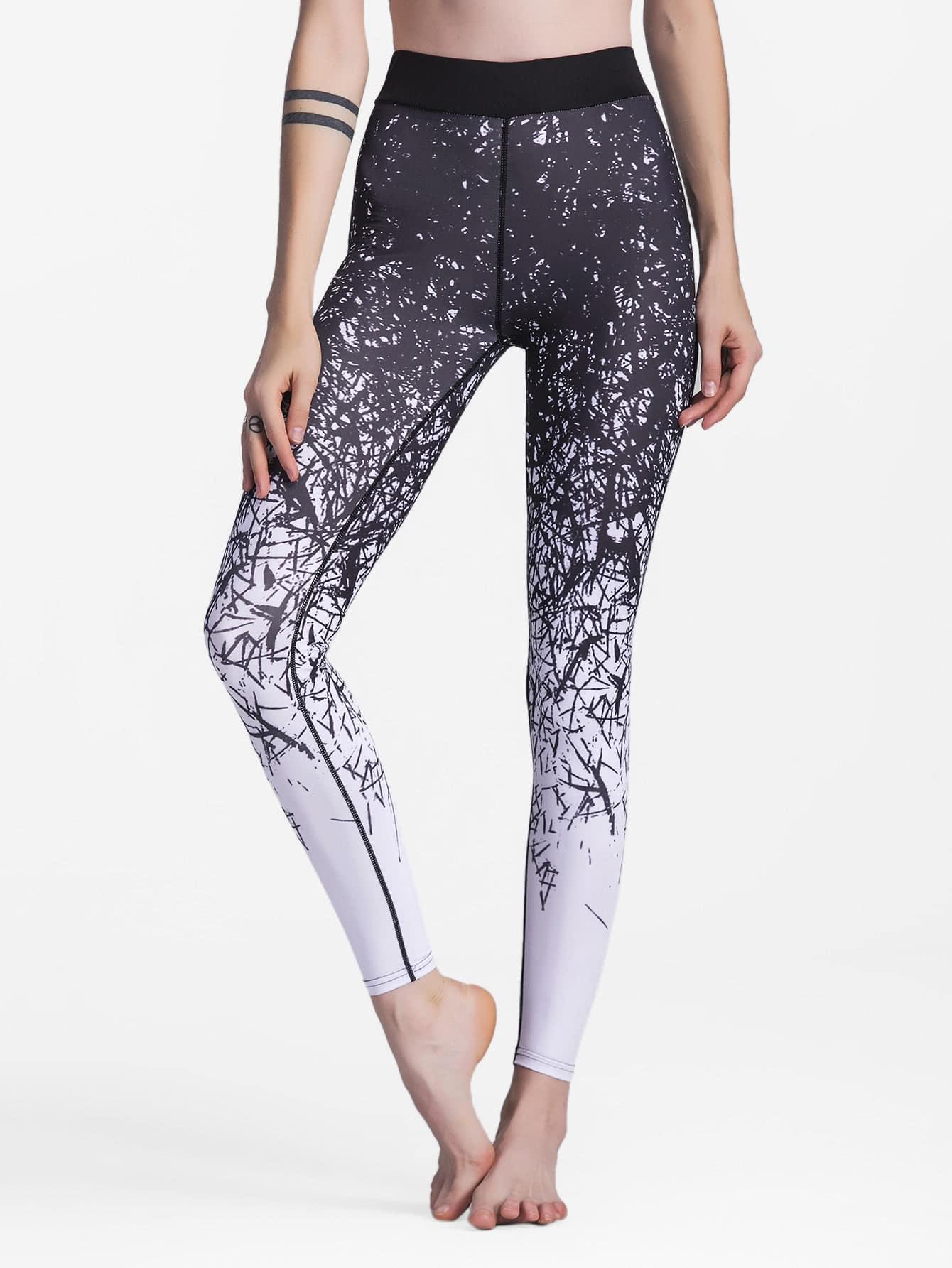 Splatter Print Leggings leggings171006351