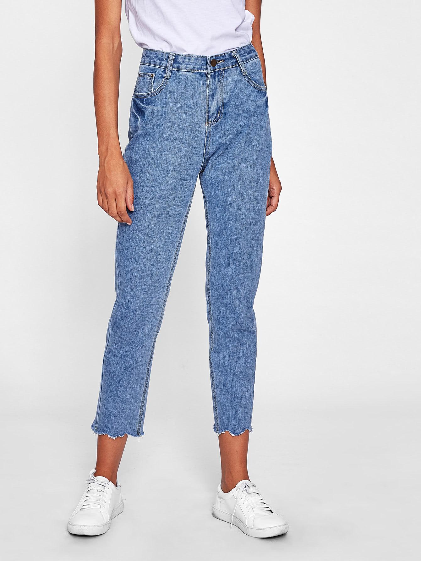 Ripped Hem Skinny Jeans ripped skinny leggings