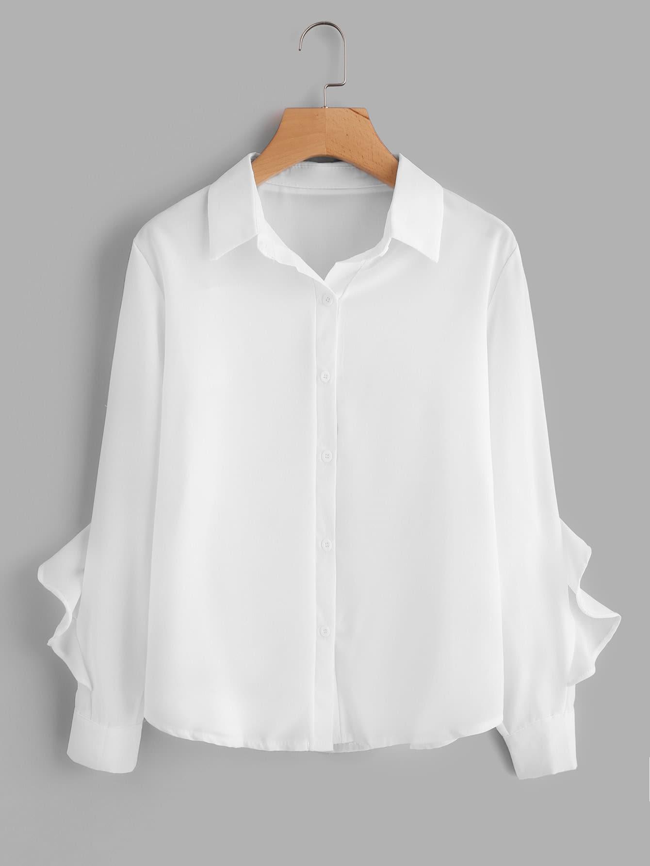 Frill Trim Shirt frill trim shirt