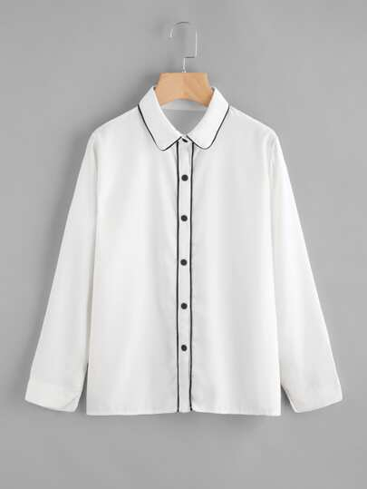 Contrast Binding Shirt