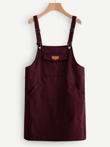 Patch Pocket Pinafore Dress