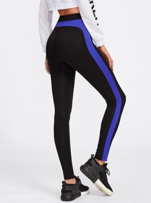 Contrast Panel Side Leggings