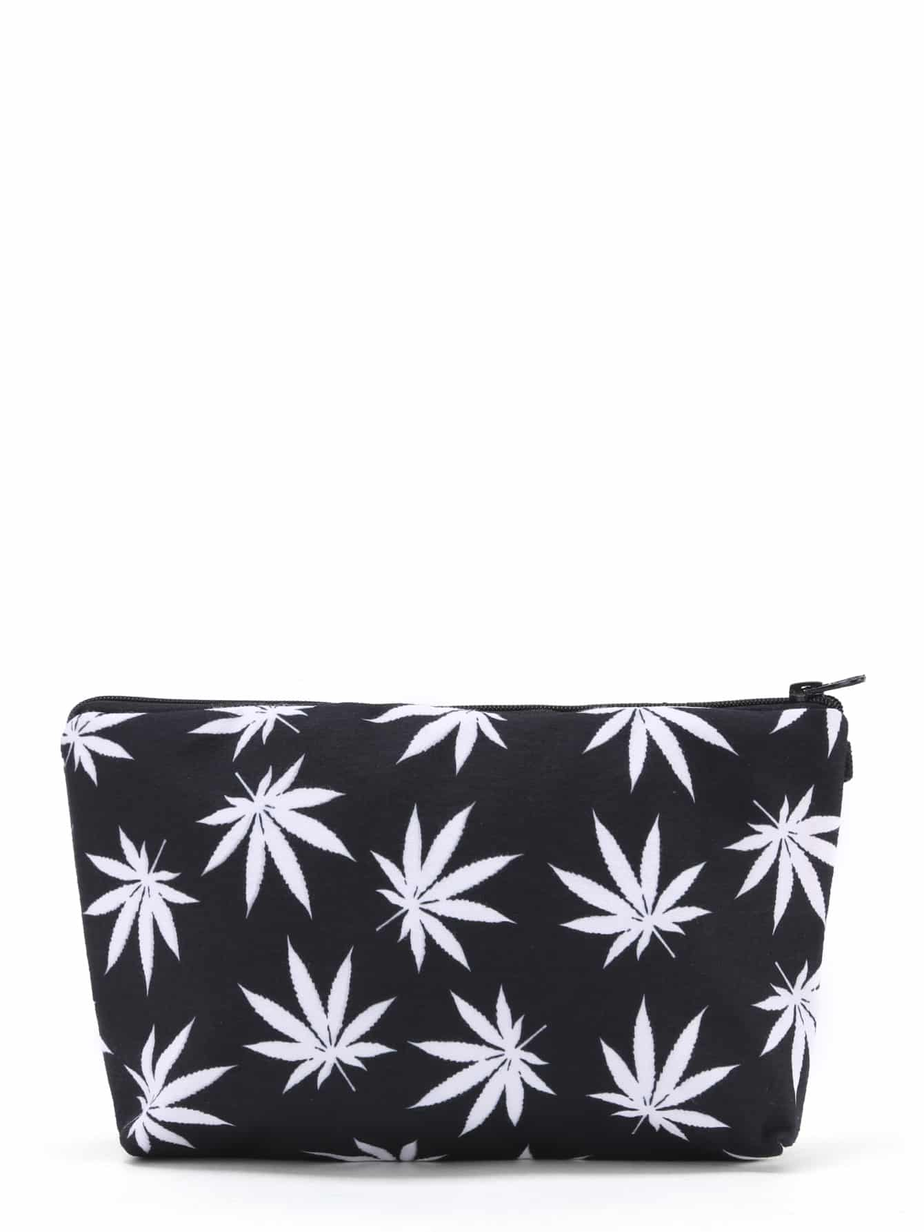 Maple Leaf Print Zipper Pouch юбка fz1850 maple leaf 2014