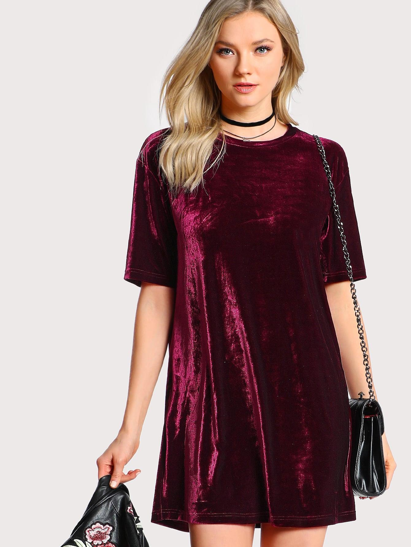 все цены на Crushed Velvet Tee Dress