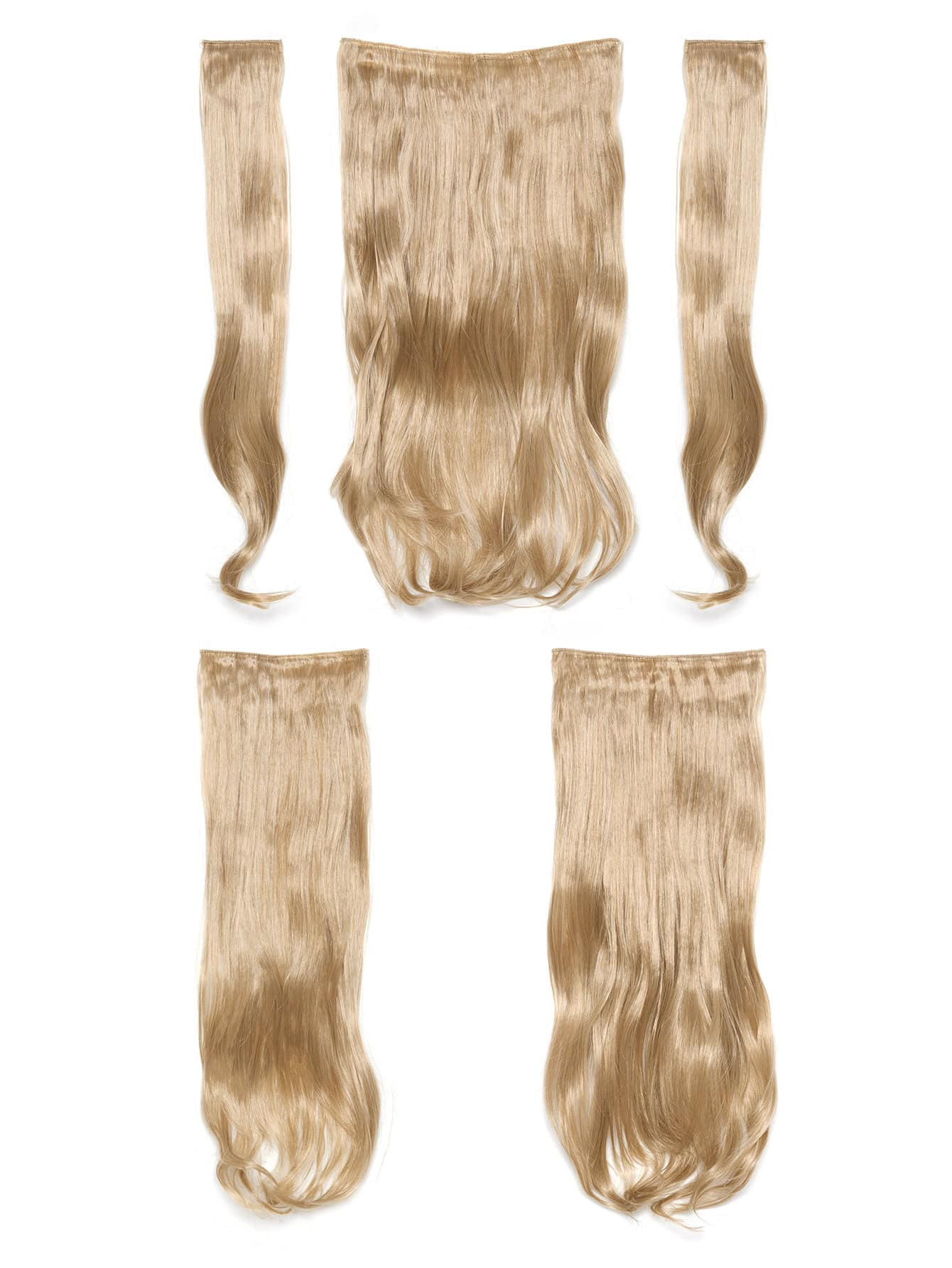Champagne Blonde Clip In Soft Wave Hair Extension 5pcs light blonde clip in soft wave hair extension 5pcs
