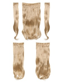 Champagne Blonde Clip In Soft Wave Hair Extension 5pcs