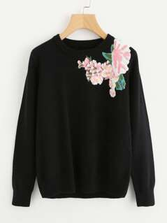 Embroidery Patch Soft Knit Jumper