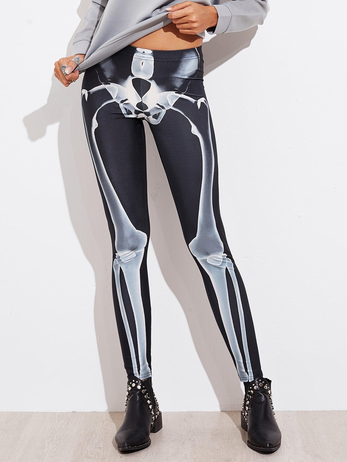 Halloween Skeleton Leggings plastic standing human skeleton life size for horror hunted house halloween decoration