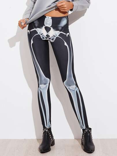 Halloween Skeleton Leggings