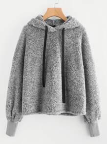 Faux Fur Fluffy Hoodie